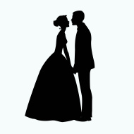 stock-illustration-62470850-bride-and-groom-silhouette-illustration (1)