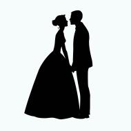 stock-illustration-62470850-bride-and-groom-silhouette-illustration (1)